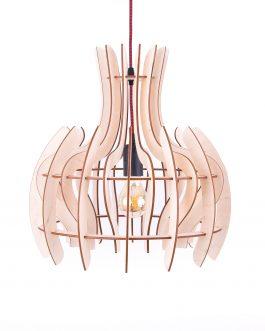 Nowoczesna sufitowa lampa ze sklejki w stylu SKANDYNAWSKIM