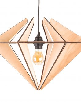 Drewniana lampa diamentowa ze sklejki