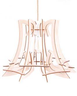 Nowoczesna drewniana lampa do salonu w stylu skandynawskim