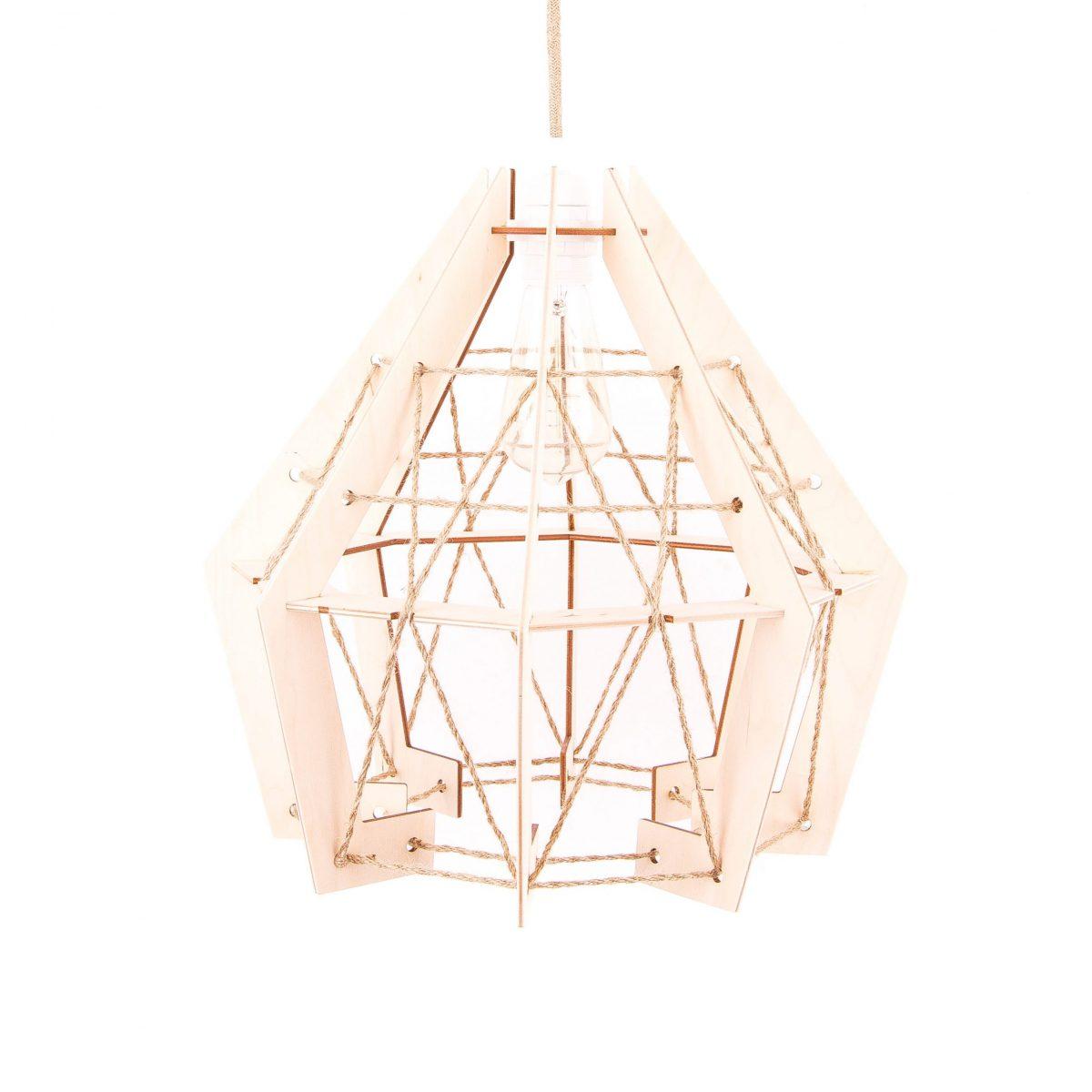 lampa sufitowa drewniana