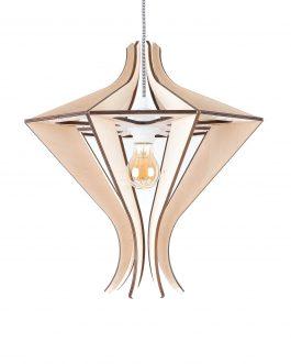 Designerska lampa wisząca ze sklejki w stylu skandynawskim