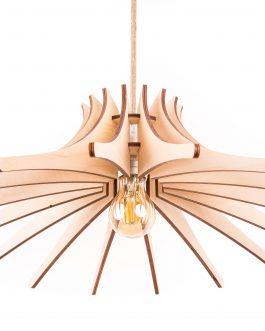 Rustykalna lampa wisząca ze sklejki w stylu skandynawskim