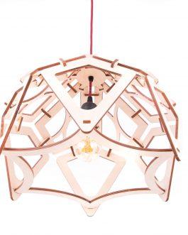 Lampa AŻUROWA ze sklejki w stylu SKANDYNAWSKIM