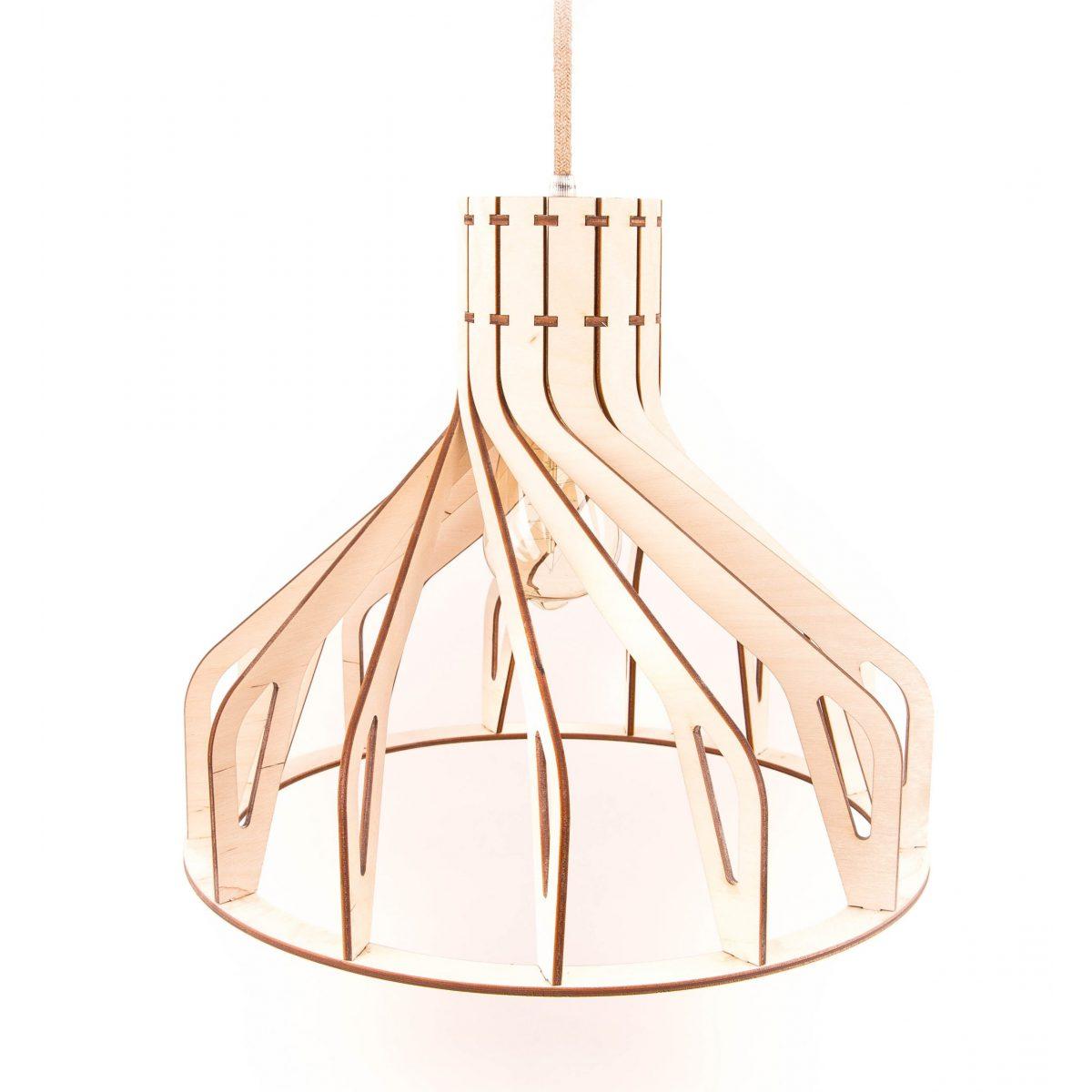 lampa skandynawska drewniana
