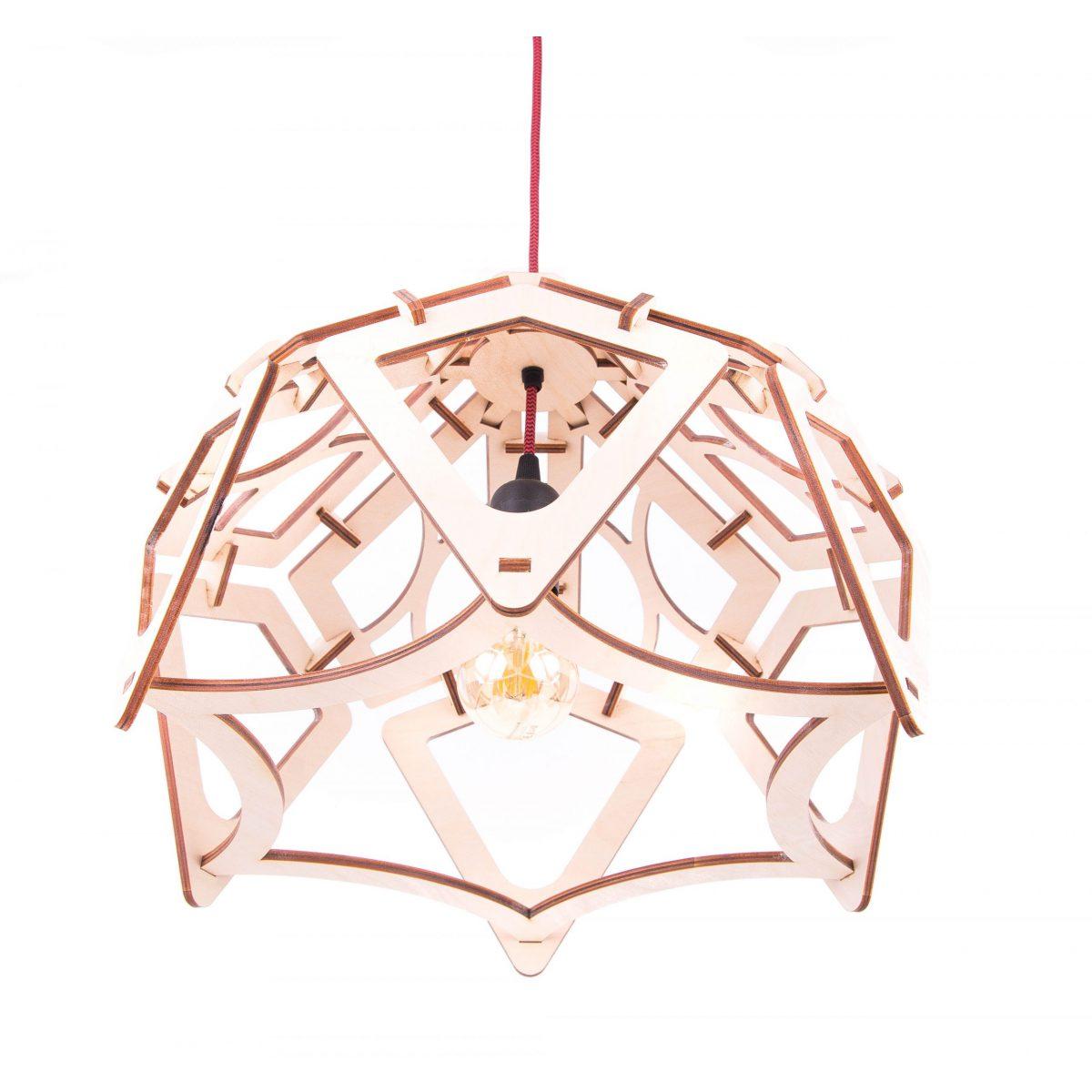 lampa ażurowa ze sklejki