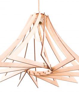 Designerski żyrandol nowoczesny do salonu w stylu industrialnym
