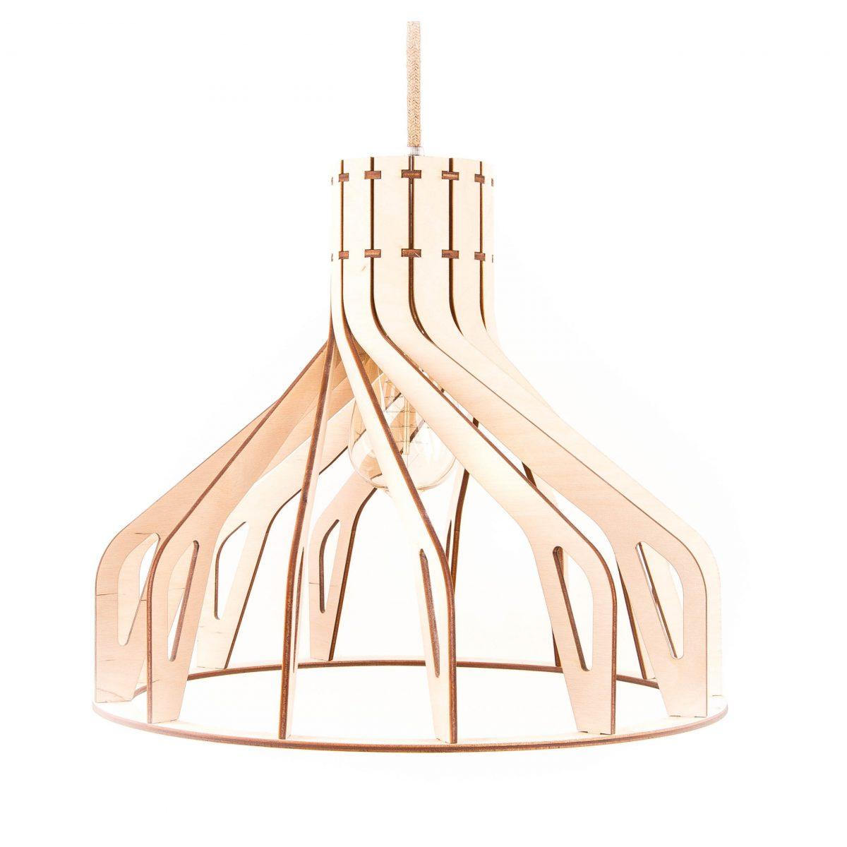 lampa drewniana skandynawska