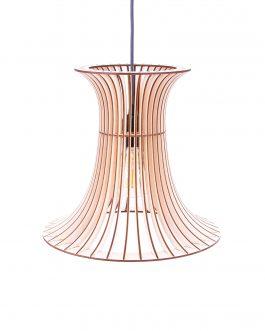 Elegancki drewniany żyrandol w stylu skandynawskim