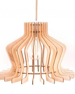 Klasyczna lampa drewniana do salonu