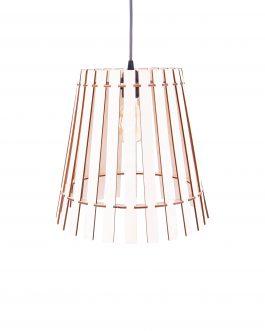 Minimalistyczna lampa do pokoju drewniana w stylu industrialnym