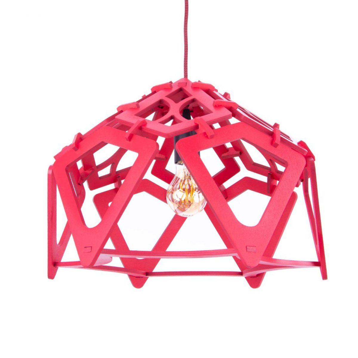 lampa drewniana nad stół