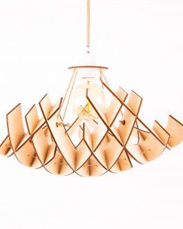 Lampa drewniana sufitowa do SALONU w stylu skandynawskim