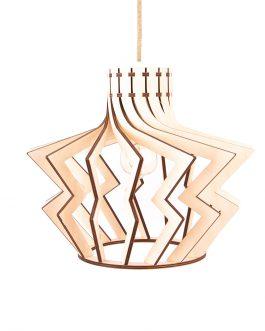Drewniana nowoczesna lampa sufitowa do SALONU