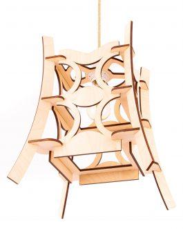 Designerska nowoczesna lampa wisząca z drewna