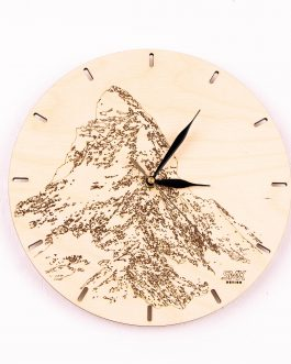 Drewniany prezent dla turysty górskiego – ZEGAR Z GRAWEREM
