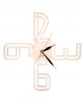 Zegar do kuchni wykonany w skandynawskim stylu