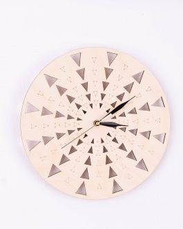 Nowoczesny zegar DO KUCHNI drewniany w STYLU SKANDYNAWSKIM