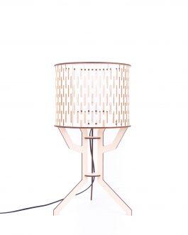 Lampa stojąca styl skandynawski ZE SKLEJKI