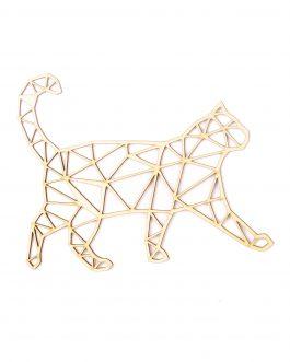 Geometryczne zwierzęta na ścianę ze sklejki – KOT