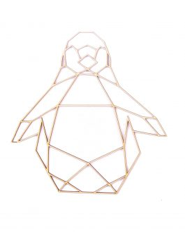 Geometryczne ozdoby na ścianę – PINGWIN