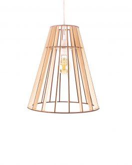 Nowoczesna lampa modułowa drewniana ze zmiennymi nakładkami