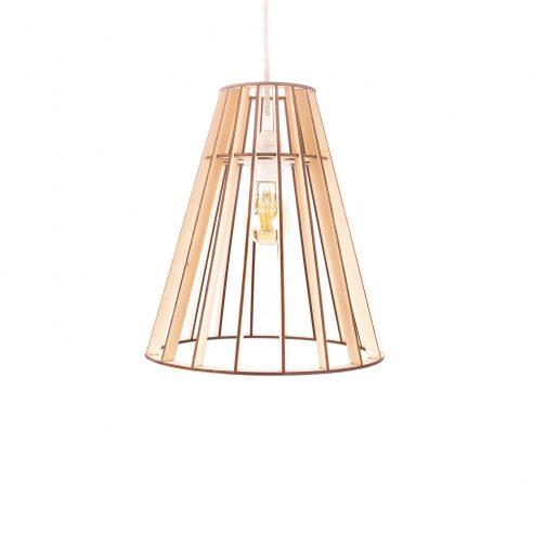 Drewniana lampa modułowa
