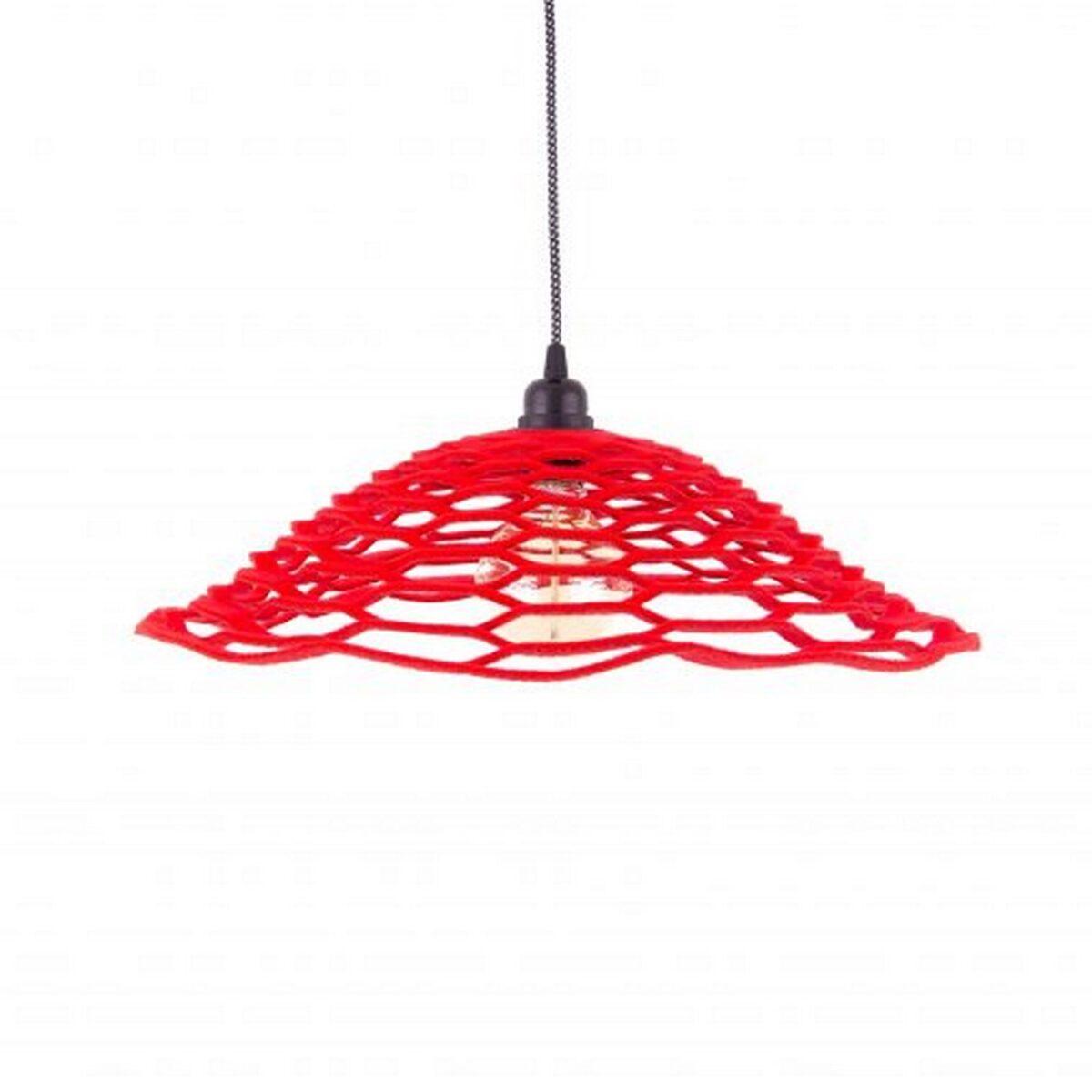 lampa filcowa w industrialnym stylu