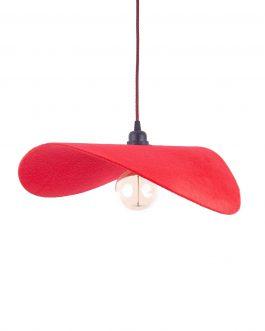 Lampa do pokoju dzieci filcowa w kolorze czerwonym