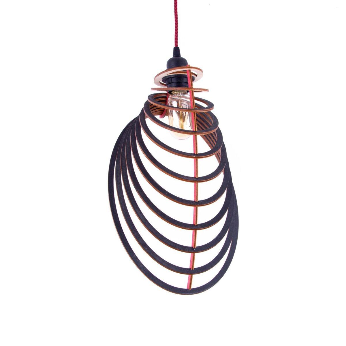 lampa skandynawska ze sklejki