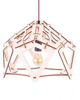 Ażurowa lampa ze sklejki industrialna