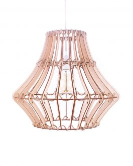 Lampa ze SZNURKA + SKLEJKA w stylu skandynawskim EKO