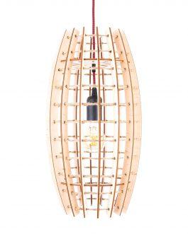 Lampa sufitowa DO SYPIALNI ze sklejki w stylu SKANDYNAWSKIM