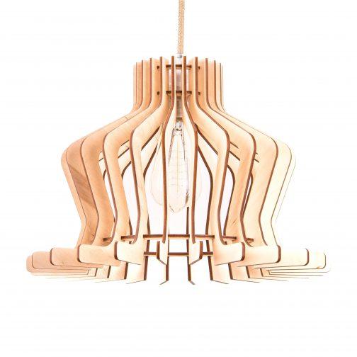 nowoczesna lampa ze sklejki