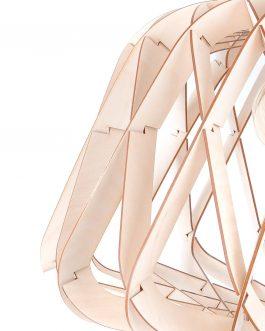 Lampa geometryczna wisząca w stylu skandynawskim ZE SKLEJKI