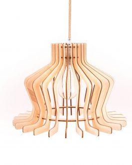 Drewniana lampa wisząca do salonu – KLASYCZNA