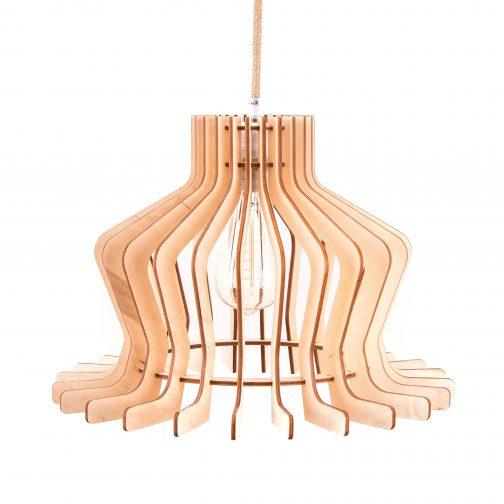 klasyczna lampa drewniana