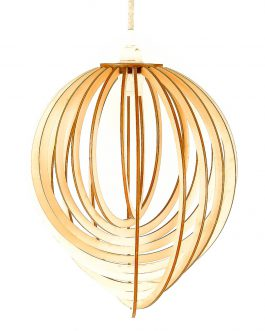 Nowoczesna lampa ze sklejki do salonu – SPIRALNA