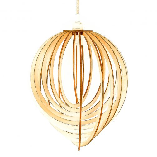lampa drewniana do salonu