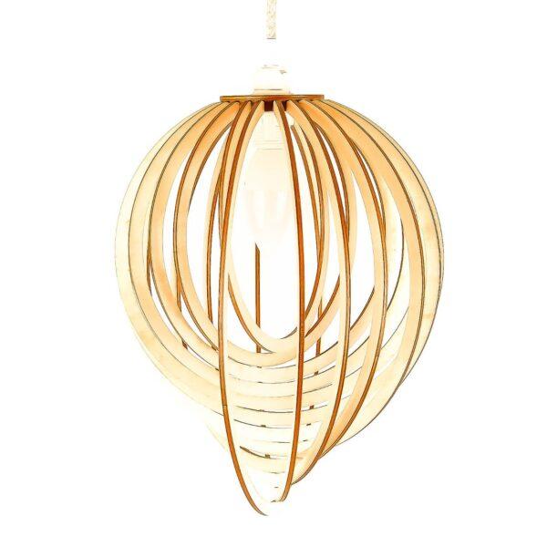 drewniana lampa sufitowa