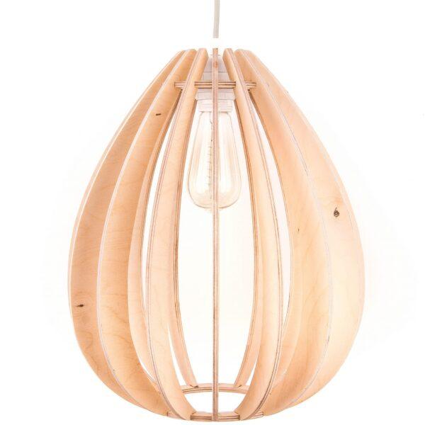 Lampa wisząca do salonu ze sklejki