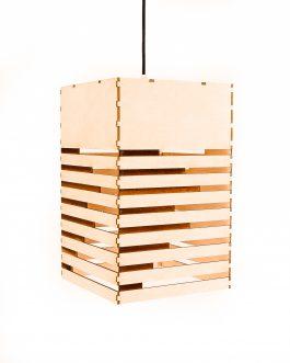 Lampa drewniana w stylu nowoczesnym ze sklejki