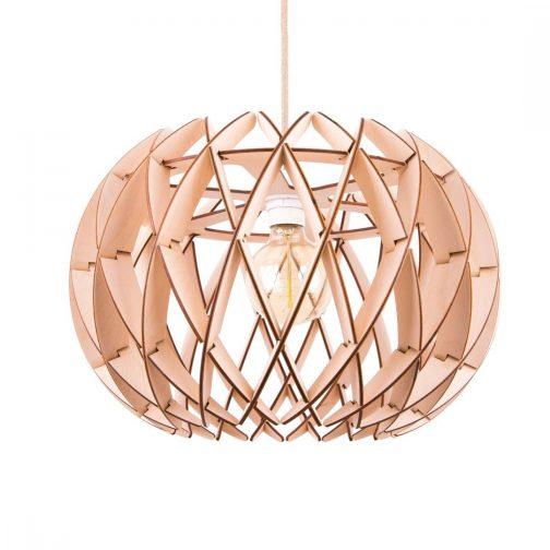 lampa geometryczna ze sklejki