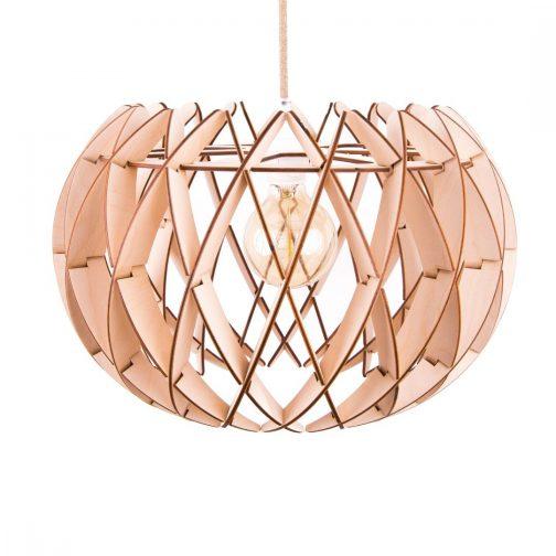 symetryczna lampa ze sklejki