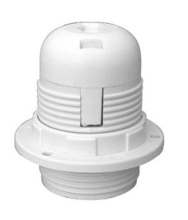 Oprawa do lampy E27 – biała+ pierścień mocujący