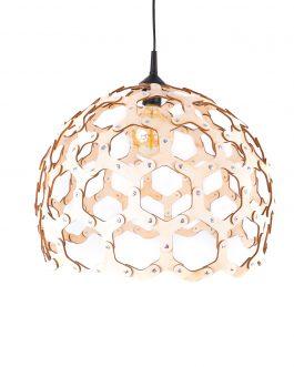 Lampa industrialna z nitami ze sklejki