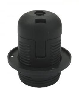 Oprawa do lampy E27 – czarna + pierścień mocujący