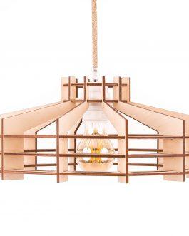 Minimalistyczna drewniana lampa wisząca do salonu