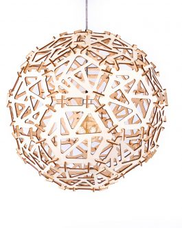 Geometryczna lampa kula wisząca w industrialnym stylu malowana
