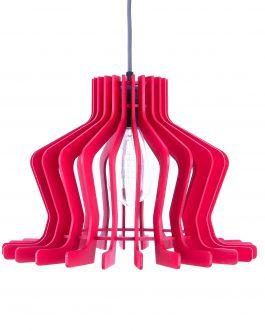Nowoczesna lampa wisząca koloru czerwonego