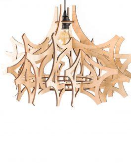 Lampa sufitowa PLAFON do salonu ze sklejki w nowoczesnym stylu